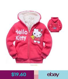 Girls' Clothing (Newborn-5T) Hello Kitty Girls Winter Red Cotton Warm Hoodies Coat Long Sleeve Cartoon 3Y-9Y #ebay #Fashion