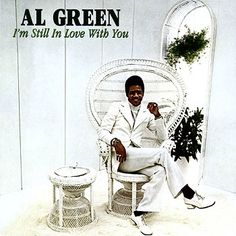 Al Green - in all white - in a white peacock chair. wow. via The Glam Lamb