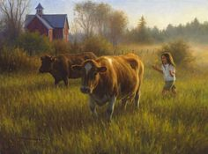 Bringing the cows home... Robert Duncan.