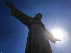 Jesus Christ holding the #sun in his hand. This is #Lisbon's #Christ the King #Statue located in #Almada and overlooking the city. It is an extremely impressive 1940s & 1950s construction based upon the Rio de Janeiro Christ statue. #art #architecture #religion #Catholic #Christian #Crucifix #Jesus #travel #tourism #tourist #culture #sunshine #silhouette #adventure #explore #seetheworld #Portugal #Lisboa #IgersLisboa