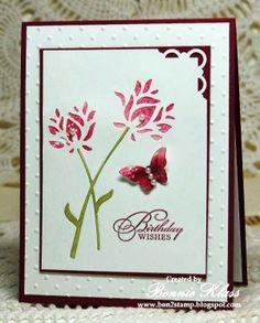 Stamping with Klass: Wild Blooms Smooshed