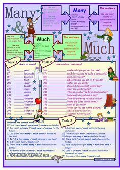 Many & much * for elementary level * 3 tasks * with key *** fully editable ***