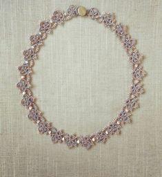 Tatting lace bracelet pdf pattern Baroque Pearl Tiara