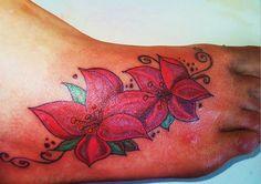 foot flower tattoo by dug490 on DeviantArt