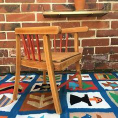 Orangevertevintage — Chaise En Bois Baumann Enfant