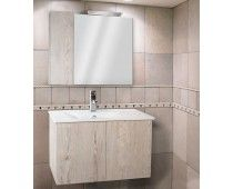 Ancobath Αθηνά 70 - Έπιπλο μπάνιου με βάση, νιπτήρα, καθρέπτη & φωτιστικό (6 άτοκες δόσεις)