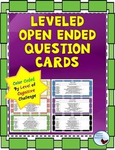 Question Cards: Color Coded Open Ended Questioning for Cri