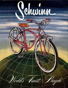 Schwinn Cruiser~1955    I won one of these in a contest, just before Christmas! MB