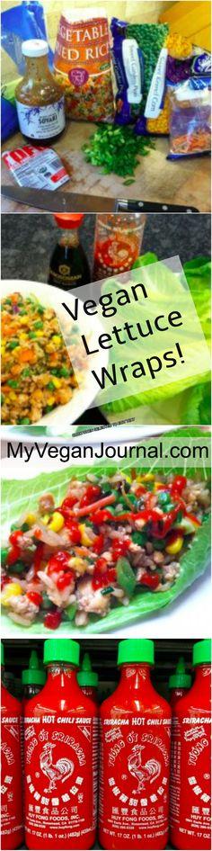 Super easy vegan lettuce wraps! Here's how to make em'! #MyVeganJournal
