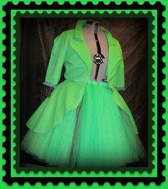 Plus Size Tutu Skirt Gothic Jacket Outfit