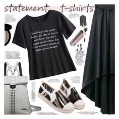 """Say What: Statement T-Shirts"" by katjuncica ❤ liked on Polyvore featuring Kerr®, Edward Bess, Nicole, Chloé and Meghan Los Angeles"