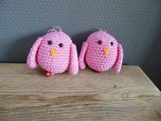 Two little crochet birds