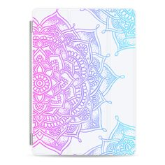 Mandala Lace Design #3 (Spring Pastels) Ipad - iPad Cover / Case ($50) ❤ liked on Polyvore featuring accessories, tech accessories, electronics, ipad cover / case, apple ipad case, ipad cover case, ipad sleeve case, ipad cases and apple ipad cover case