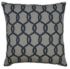 Hawser-Navy Throw Pillow