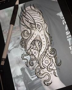 - Kraken ready for tomorrow. – -Kraken ready for tomorrow. - Kraken ready for tomorrow. Octopus Tattoo Design, Octopus Tattoos, Tattoo Design Drawings, Tattoo Sketches, Tattoo Designs Men, Kraken Art, Kraken Tattoo, Squid Tattoo, Lion Tattoo