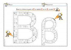 """Εκτύπωση φύλλου δραστηριότηρας με θέμα """"Γεμίζω το Β,β"""". Worksheets, Map, Learning, Alphabet, Kids, School, Young Children, Boys, Location Map"""