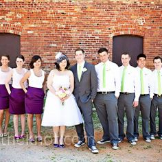 This is a real good idea. Pencil skirts for the bridesmaids. I'm all about making this laid back and cheap!