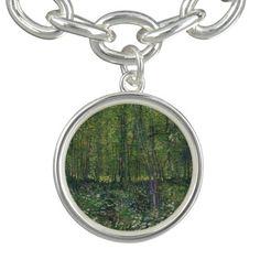 #trees and #undergrowth rgrowth by Vincent #vangogh #charm #bracelets - #art #jewelry #charmbracelet #bracelet