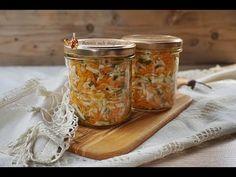 Salată de varză cu morcov la borcan - RețetaVideo | Retetele mele dragi Mason Jars, Canning, Salads, Mason Jar, Glass Jars, Jars
