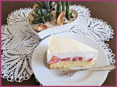Die Backprinzessin: Erdbeer-Topfentorte mit Qimiq No Bake Desserts, Summer Time, Camembert Cheese, Dairy, Sweets, Baking, Smoothie, Food Ideas, Cakes