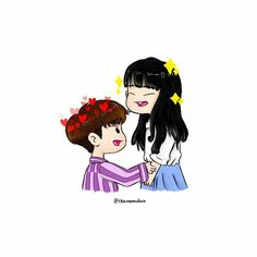 Double B, Hanbin, Ikon, Bobby, Chibi, Minnie Mouse, Disney Characters, Fictional Characters, Fan Art