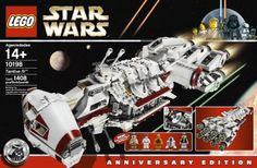 LEGO Star Wars Tantive IV. It has 1408 pieces, and comes with 5 action figures.