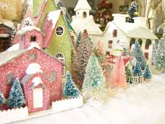 glitter houses and bottle trees - perfect match