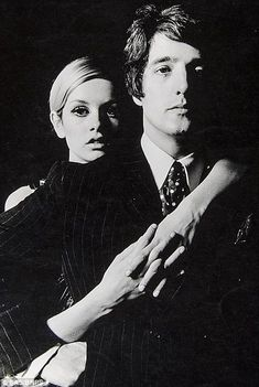 Model Twiggy is seen with her boyfriend and manager Justin de Villeneuve...