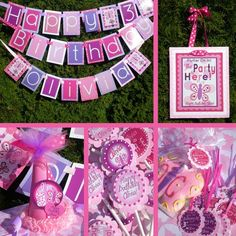 i am obsessed with party planning. i think i've planned out my child's b-day parties until she's 90. i like the colors in this one i found on etsy. i do party planning and party packages and i can include the cake and photographer! i also do customs.