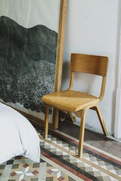 the poetry of material things #interior #bedroom #chair #inspiration #natural #casual