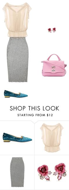 """""""Untitled #5149"""" by explorer-14576312872 ❤ liked on Polyvore featuring Charlotte Olympia, Pull&Bear, Altuzarra, Betsey Johnson and Zanellato"""