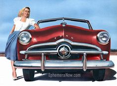 Plan59 :: Classic Car Art :: Vintage Ads :: 1949 Ford