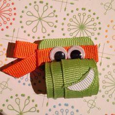 Teenage Mutant Ninja Turtle Sculpture Bow on Etsy, $4.00