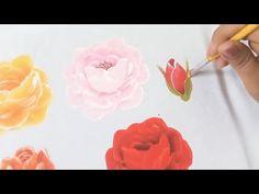 Pintura En Tela Para Principiantes Como Pintar Rosas En Tela - YouTube Crochet Flower Patterns, Crochet Flowers, Knitting Patterns, Tole Painting, Painting & Drawing, Alcohol Ink Painting, Painting Still Life, Painting Videos, Drawings