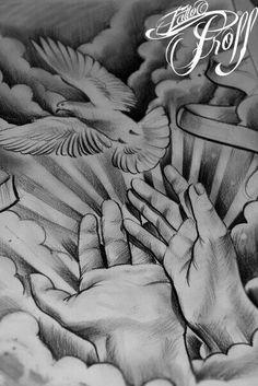 Mãos e pomba 1