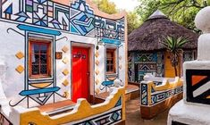 ndebele houses - Google Search Environmental Art, Give It To Me, Culture, Simple, Painting, Life, Houses, Google Search, Homes