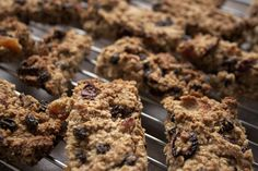Chewy Cranberry-Apricot Muesli Bars