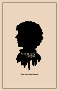 Sherlock Holmes Silhouette Character Portrait and Quote Poster- Etsy.