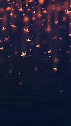 Golden Falling Stars #iPhone #6 #wallpaper