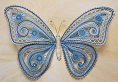Quilling Butterfly, Crochet Butterfly, Butterflies, Crochet Feather, Bobbin Lacemaking, Bruges Lace, Lace Art, Bobbin Lace Patterns, Naruto Wallpaper