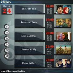 Good morning dear viewers, here's #iFilm's schedule for today. Enjoy!