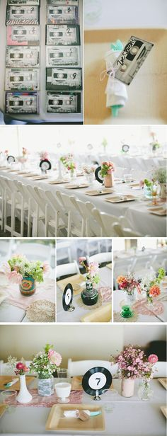 Great ways to incorporate a love of music into the wedding decor #wedding #decoration #music