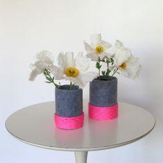Neon-Felt Vase