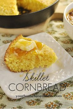 Skillet Cornbread - yum, this is the kind Mom used to make.  Wonder if anyone will enter a recipe like this in the Roswell Roots Cornbread Cookoff on 2/23?