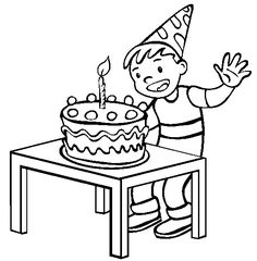 Birthday Guest Book Printable Pages Cake coloring pictures
