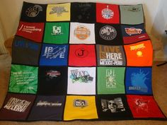 Blanket out of tshirts.