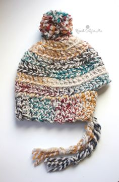 Crochet Hudson Hat and Mittens - Repeat Crafter Me