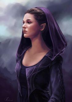 ArtStation - Half elf sorceress, Loles Romero