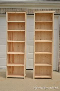 The best part of making your own furniture is you can customize!  I love these extra extra tall bookshelves!!!