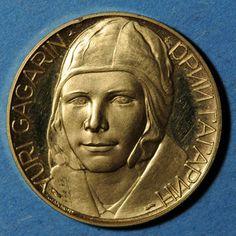 Coins Russie. Yuri Gagarin. 12.4.1961. Médaille or. 22 mm